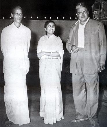 Poet Pradeep, Lata Mangeshkar and C Ramchandra