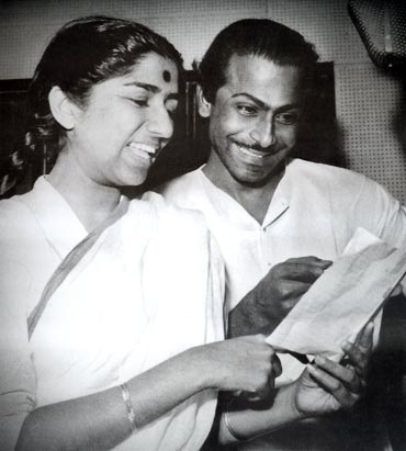 Lata Mangeskar and Salil Chowdhury