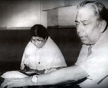 Lata Mangeshkar and Chitragupt
