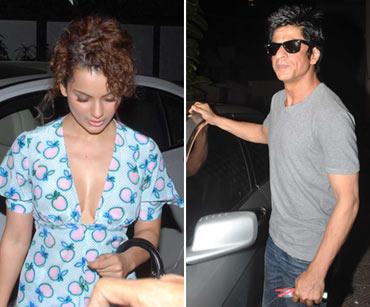 Kangna Ranaut and Shah Rukh Khan