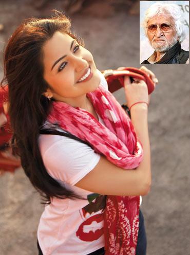 Anushka Sharma. Inset: M F Husain
