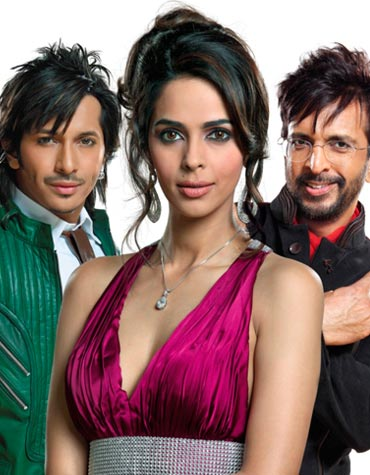 Terrence Lewis, Mallika Sherawat and Javed Jaffery
