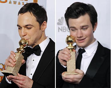 Jim Parsons and Chris Colfer