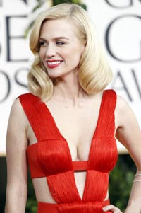 January Jones arrives at the red carpet