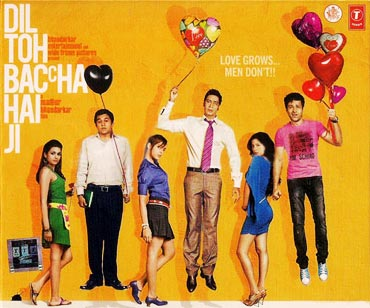 Movie poster of Dil Toh Bachcha Hai Ji