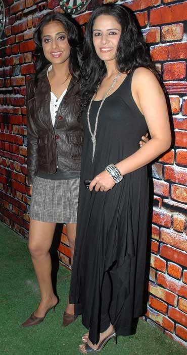 Mahie Gill and Mona Singh