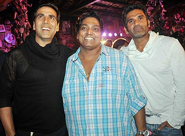 Akshay Kumar, Ganesh Acharya and Suniel Shetty