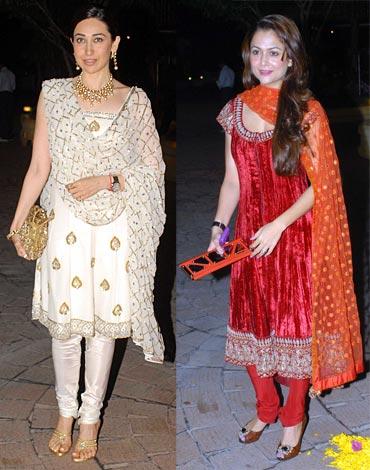 Karisma Kapoor and Amrita Arora
