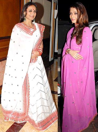 Rani Mukerji and Aishwarya Rai Bachchan