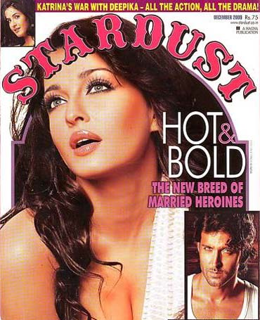 Aishwarya Rai Bachchan on the cover of Stardust