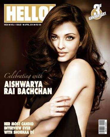 Aishwarya Rai Bachchan on the cover of Hello