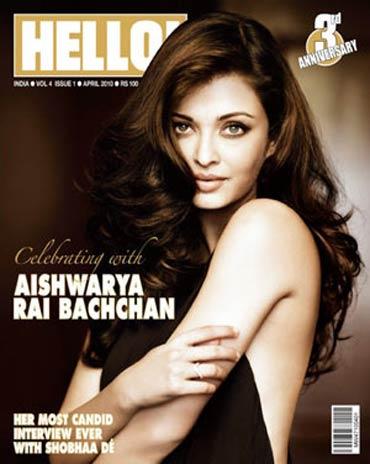 Aishwarya Rai Bachchan on the cover of Hello