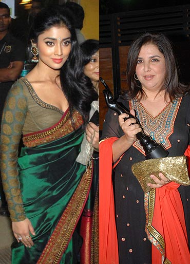 Shriya Saran and Farah Khan