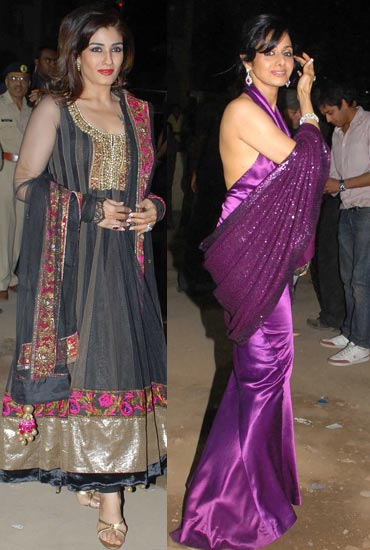 Raveena Tandon and Sridevi