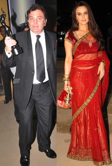 Rishi Kapoor and Preity Zinta