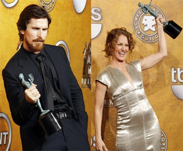 Christian Bale and Melissa Leo
