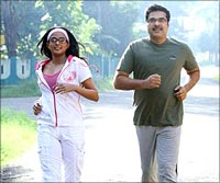 A still from Pranchiyettan & the Saint