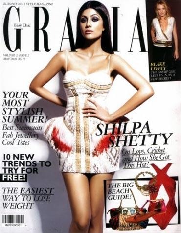Shilpa Shetty on Grazia