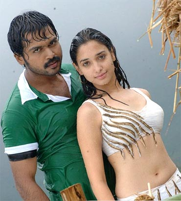 Karthik and Tamannaah in Adada Mazhaida