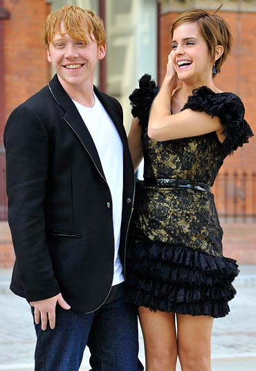 Rupert Grint and Emma Watson