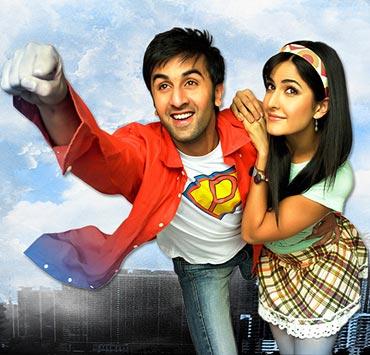 Ranbir with Katrina Kaif in Ajab Prem Ki Ghazab Kahani