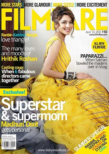 Madhuri Dixit on Filmfare cover