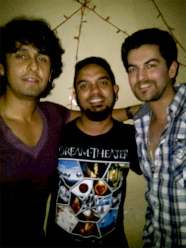 Sonu Nigam, Gaurav Daas Gupta and Neil Nitin Mukesh