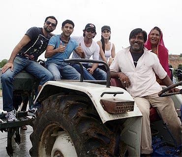 Abhay Deol, Farhan Akhtar, Hrithik Roshan and Katrina Kaif