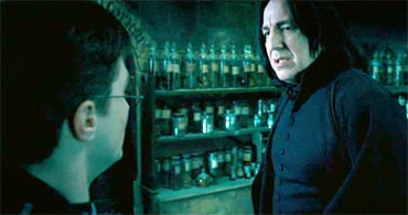 Snape teaches Harry Occlumency