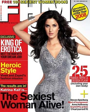 Katrina Kaif on the cover of FHM
