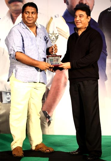 Rajesh Pillai with Kamal Haasan