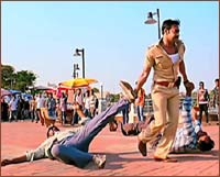 A scene from Singham