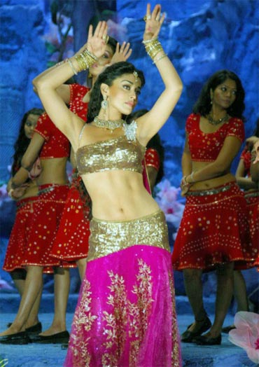 Shriya Saran in a scene from Don Seenu