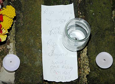 Vigil outside Amy Winehouse' Camden home