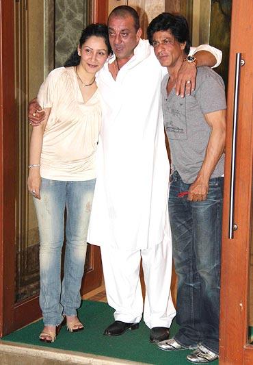 Manyata Dutt, Sanjay Dutt and Shah Rukh Khan