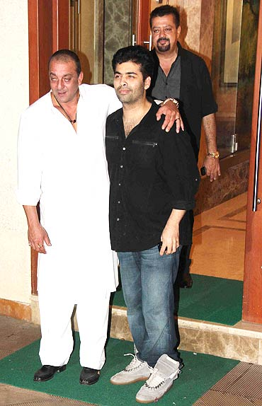 Sanjay Dutt and Karan Johar