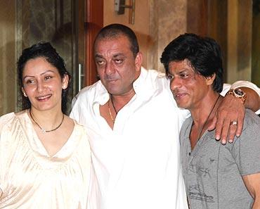 Manyata and Sanjay Dutt with Shah Rukh Khan