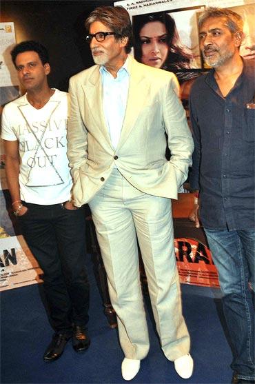 Manoj Bajpai, Amitabh Bachchan and Prakash Jha