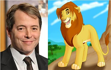 Mathew Broderick and Simba