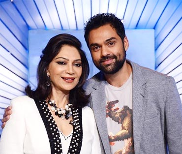 Simi Garewal with guest Abhay Deol