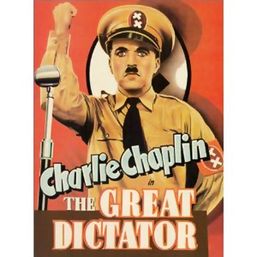 Movie poster of The Great Dictator