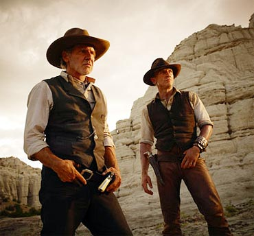 A still from Cowboys and Aliens