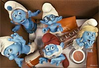 A still from The Smurfs