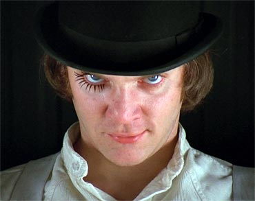 A scene from A Clockwork Orange