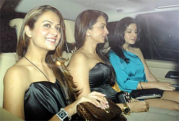 Amrita Arora, Seema Khan and Maheep Kapoor