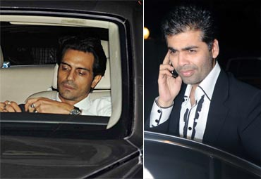Arjun Rampal and Karan Johar