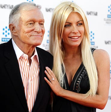 Hugh Hefner and Crystal Harris