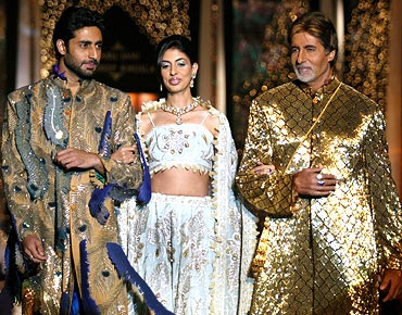 Abhishek, Shweta Nanda, Amitabh Bachchan