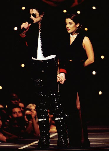 Michael Jackson and Lisa Marie Presley at the 1994 MTV awards