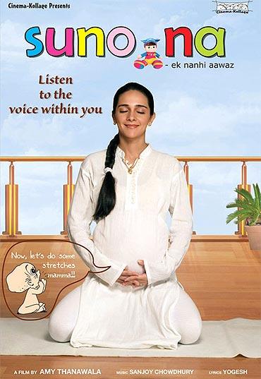 Tara Sharma on the Suno Na poster